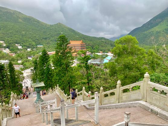 Po Lin Monastery from Tian Tan Buddha Taken by Cometan