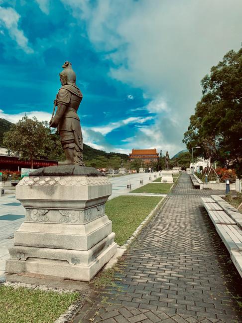 Entrance to Po Lin Monastery, Hong Kong