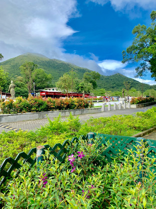 Entrance to Po Lin Monastery, Lantau Island, Hong Kong by Cometan