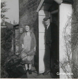 Henry & Mary Warbrick, The Maternal Great-Grandparents of Cometan at Their Home In Clayton Green