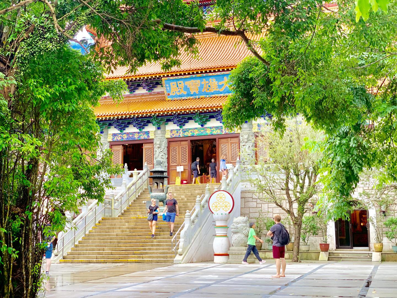 Greenery at Po Lin Monastery by Cometan