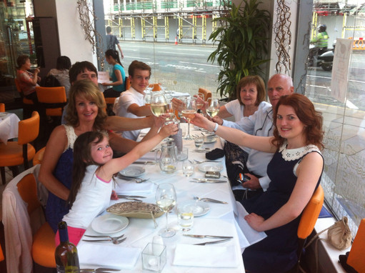 Cometan & Family at the Graduation Meal of Lucia Natalie