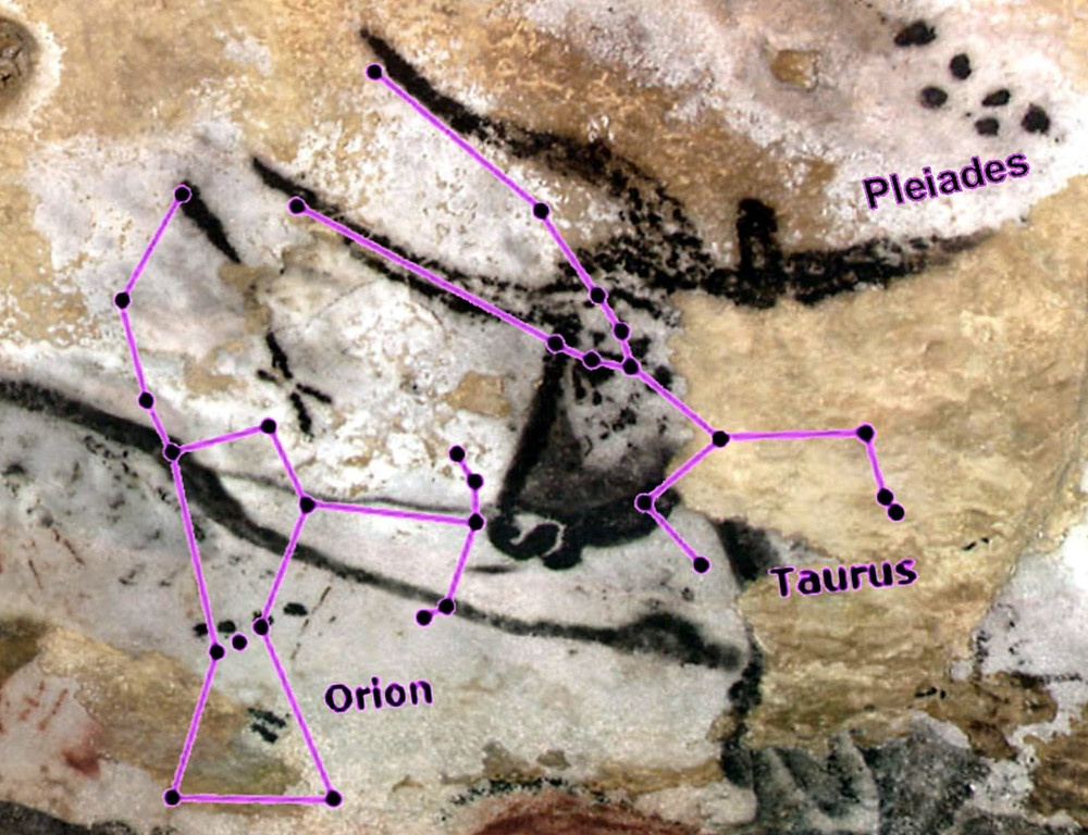 Figure 10 – Great Star Bull specimen. Annotated version of the Great Star Bull at Lascaux (BBC News, 2000)