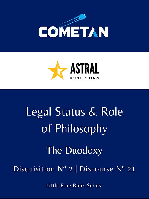Legal Status & Role of Philosophy by Cometan