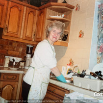 Hilda Warbrick In Kitchen of Brooklands