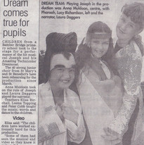 Newspaper Extract Featuring Lucia Natali