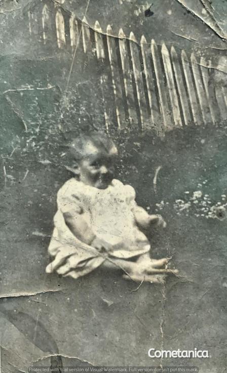 Baby William Warbrick, grandfather of Cometan (Colourised)
