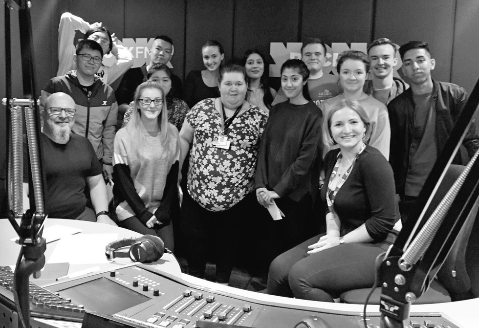 Cometan at Rock FM with University Colleagues