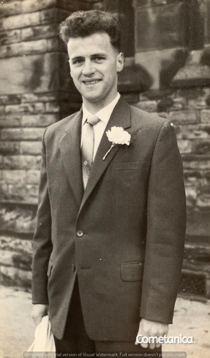 "William ""Bill"" Warbrick, grandfather of Cometan on his wedding day"