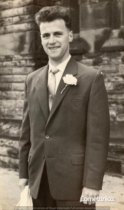 "William ""Bill"" Warbrick, grandfather of Cometan on his wedding day"