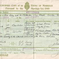 grandma and grandad marriage certificate