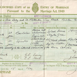 grandma and grandad marriage certificate