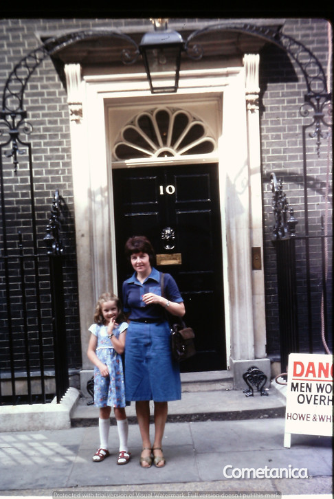Mother & Grandmother of Cometan at 10 Downing Street in London