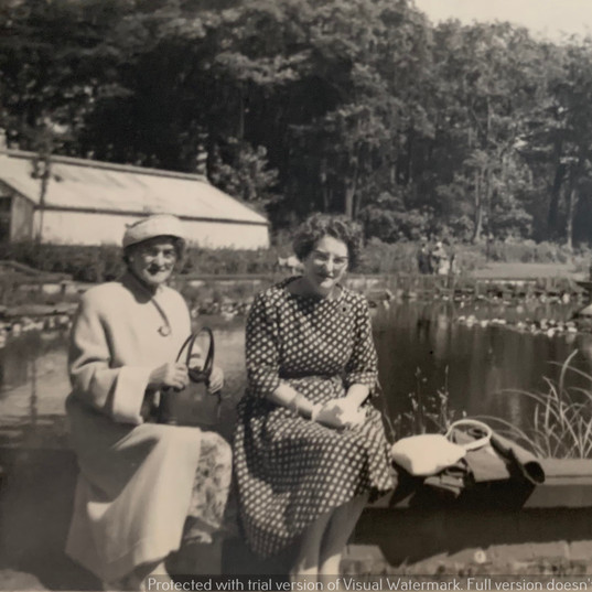Monica Bolton With Her Mother, Mary Warb