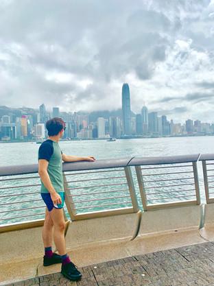 Cometan gazing at the International Finance Centre in Hong Kong.