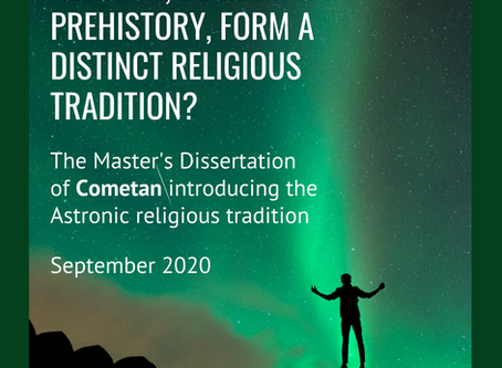 Cometan's Master's Dissertation on prehistoric astronomy and religion is published on Astronism.com