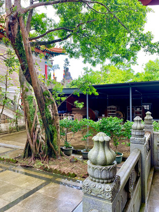 Garden of Po Lin Monastery, Hong Kong by Cometan