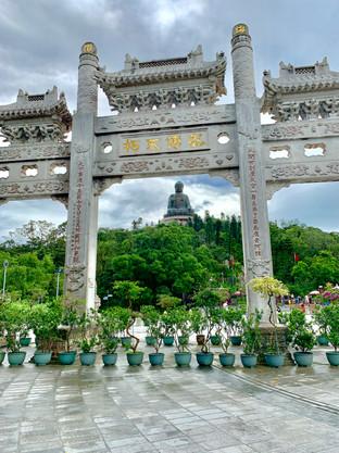 Tian Tan Buddha Gate by Cometan