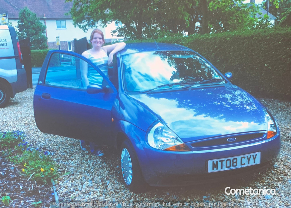 Lucia Natalie With Her New Car