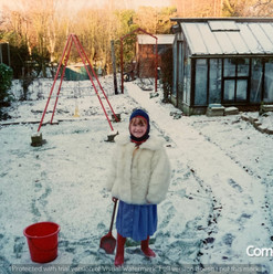 Lucia Natalie In The Snow of Brooklands.