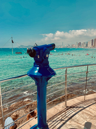 Benidorm Seafront in August 2019. Image taken by Cometan.