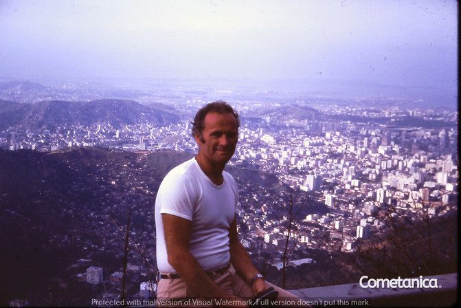William Warbrick, Grandfather of Cometan, With Rio De Janeiro In The Background in the 1970s