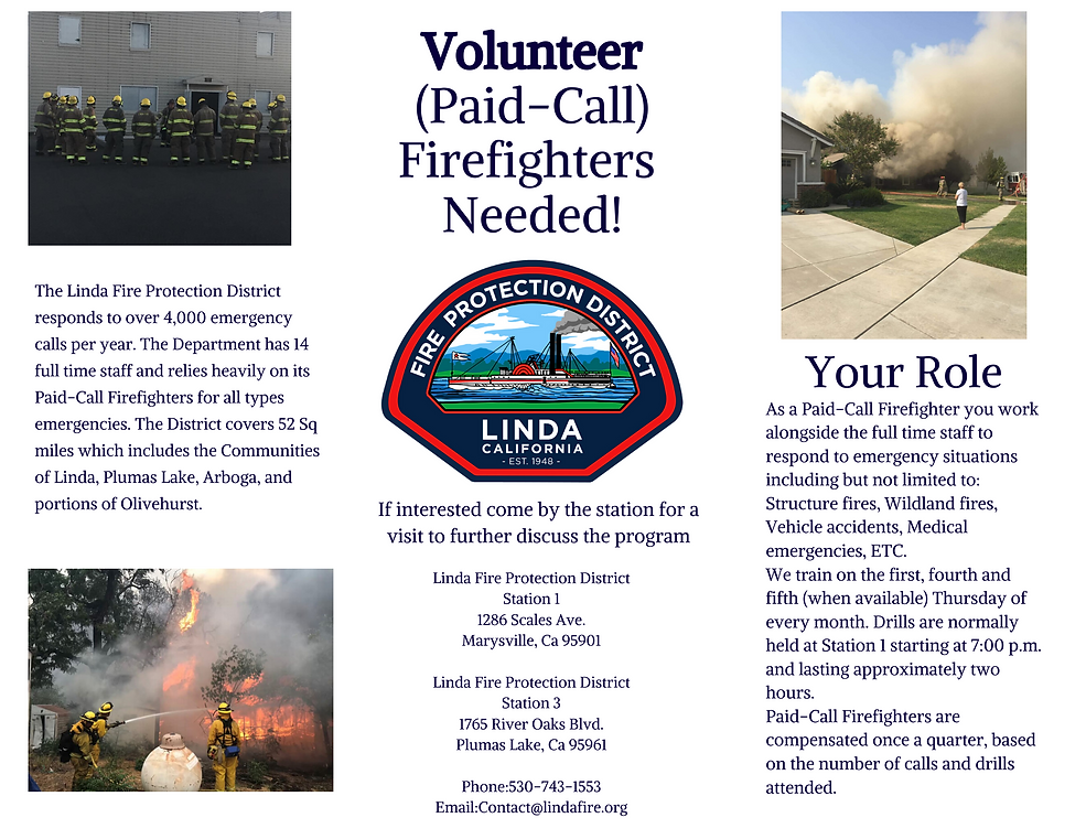 The Linda Fire Protection District respo