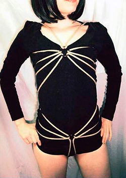 RosazulBDSM - Tutorial Shibari - Traje de hilo de araña