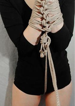 RosazulBDSM - Tutorial Shibari - Collar y esposas