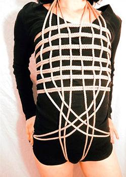 RosazulBDSM - Tutorial Shibari - Arnés de tablero de damas