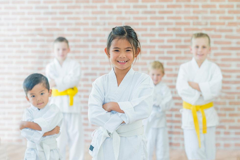 hiscoe Jiu-Jitsu young girl in karate uniform
