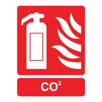 Rigid Plastic Sign 95 x 220mm CO2 Extinguisher