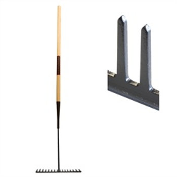 Asphalt Rake Square Tooth Wooden Handle