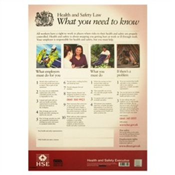 Health & Safety Law Poster -