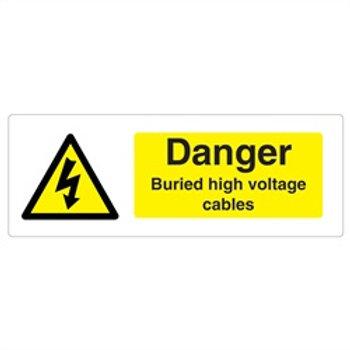 Danger Buried Cable Rigid Plastic Sign