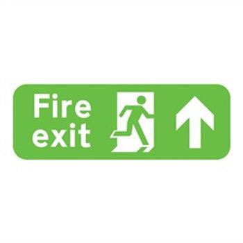 Fire Exit Up Rigid Plastic Sign