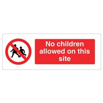 No Children On Site Rigid Plastic Sign