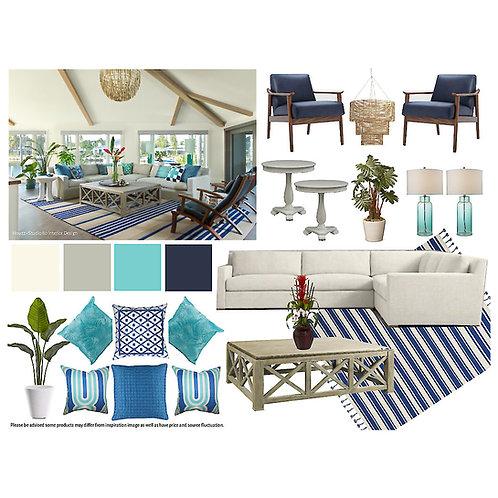 Living/Family Room: Coastal Beach
