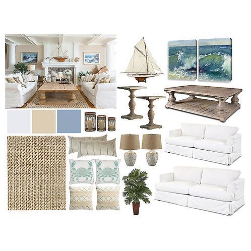Living/Family Room: Beach Nautical
