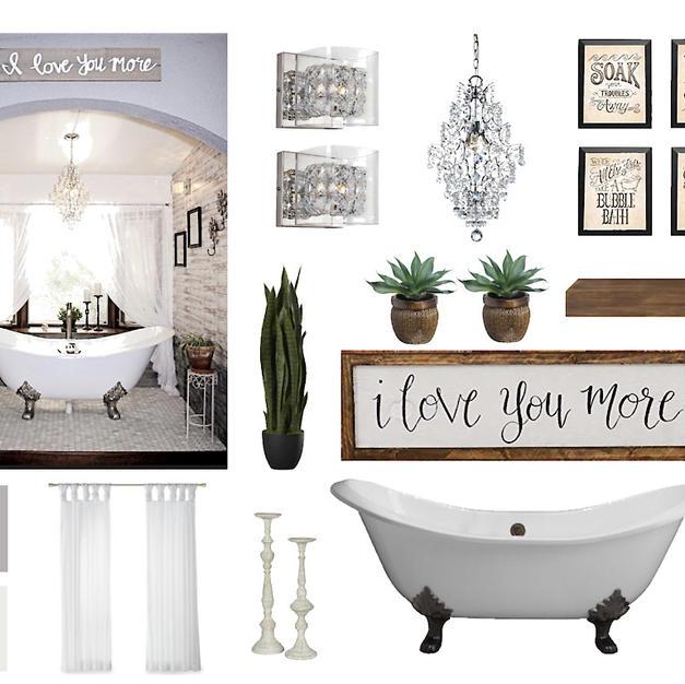 Romantic Cottage Bath