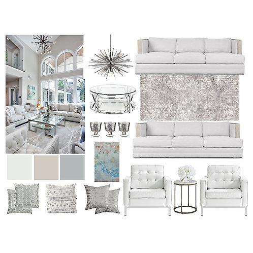Living/Family Room: Contemporary Classic Formal