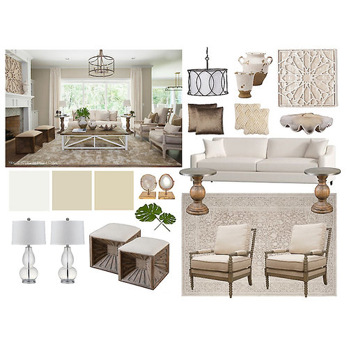 Living/Family Room: Traditional Coastal
