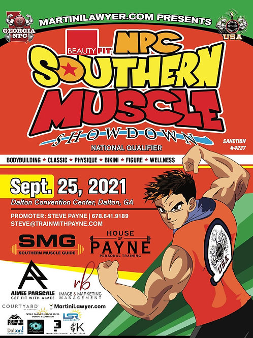 Click the NPC Southern Muscle flyer to pick a photo /video package that start at