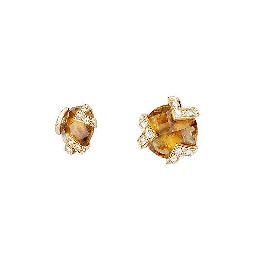 Mimata - Cocktail Citrine Earrings