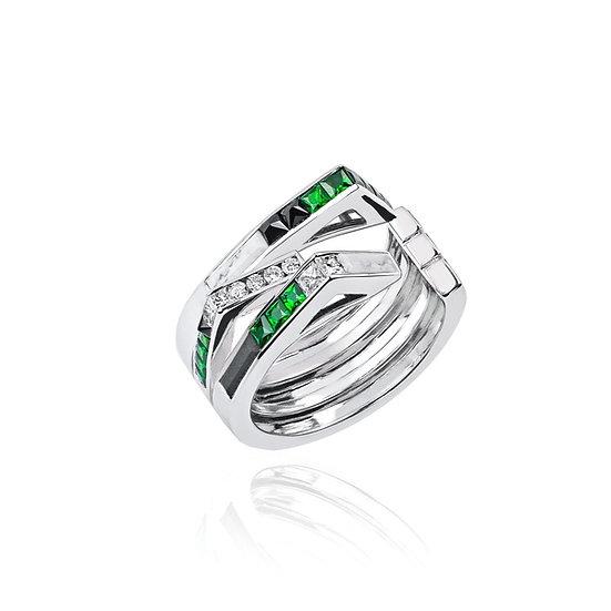 Tomasz Donocik - Stella Art Deco Ring