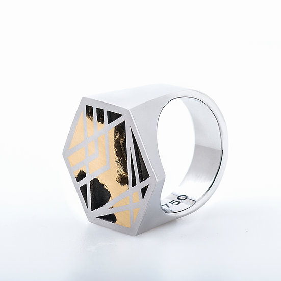 Carl Noonan - Interlace Large Hex Ring