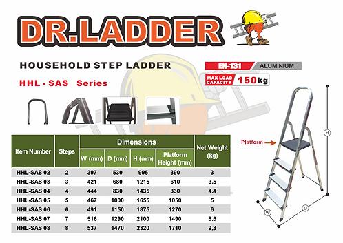 DR LADDER HHL-SAS Series Household Step Ladder 輕便扶手鋁梯
