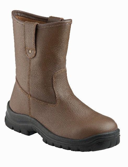 KRUSHERS Texas 296125 啡色高筒安全鞋(霸王靴)