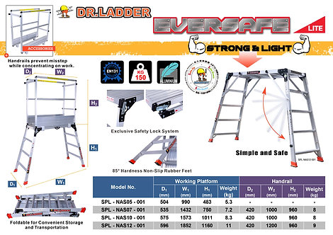 DR LADDER SPL-NAS-001 Hop-up Platform 鋁功夫櫈 (部分高度可加配圍欄)