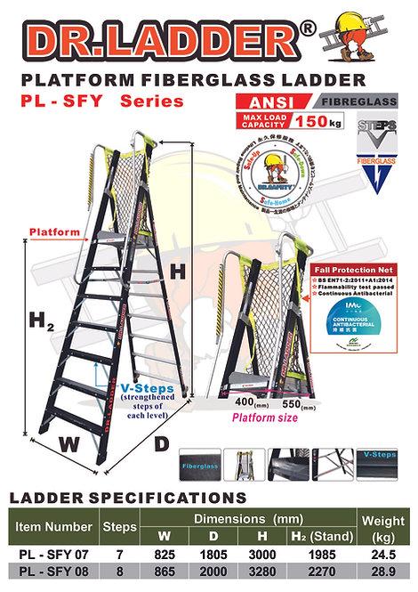 DR LADDER PL-SFY-07/08 Fiberglass Platform Ladder 7級/8級纖維平台梯